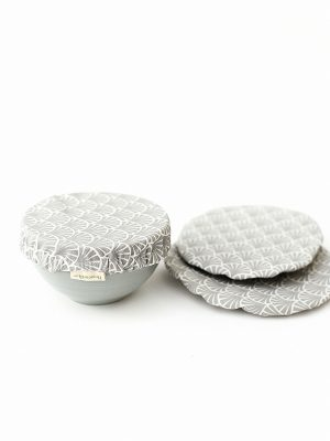 Reusable and washable fabric bowl covers